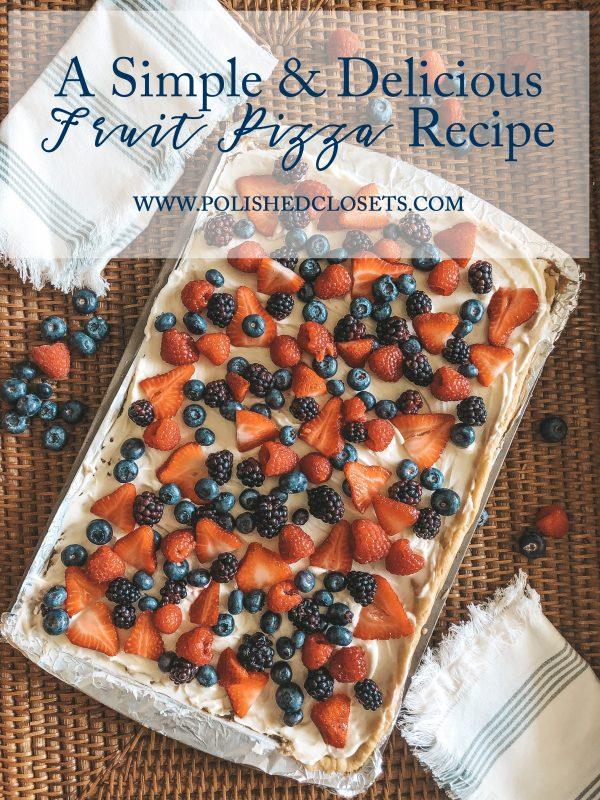 a simple fruit pizza recipe